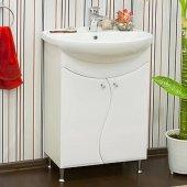 Тумба с раковиной для ванной Sanflor Лина 65