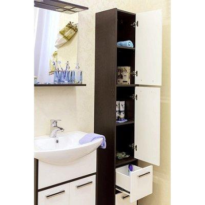 Шкаф-Пенал для ванной комнаты Sanflor Марсель-1