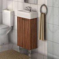 Тумба с раковиной для ванной Акватон Эклипс Н темный эбони