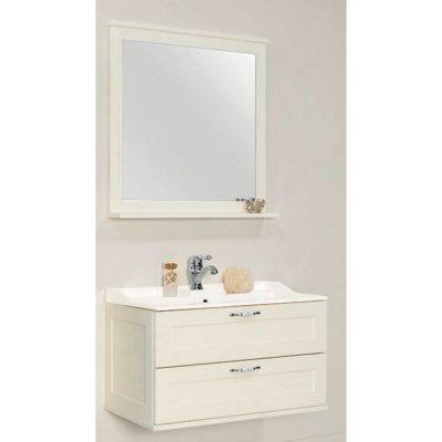 Комплект мебели для ванной Акватон Леон 80 дуб белый