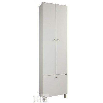 Шкаф-Пенал для ванной комнаты Акватон Симпл 55 с корзиной