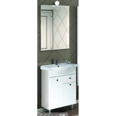 Комплект мебели для ванной Акватон Лиана 60 М с бельевой корзиной