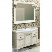 Комплект мебели для ванной Акватон Жерона 105 белое серебро