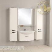Комплект мебели для ванной Акватон Ария 80 белый подвесной