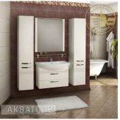Комплект мебели для ванной Акватон Ария 80 М белый подвесной