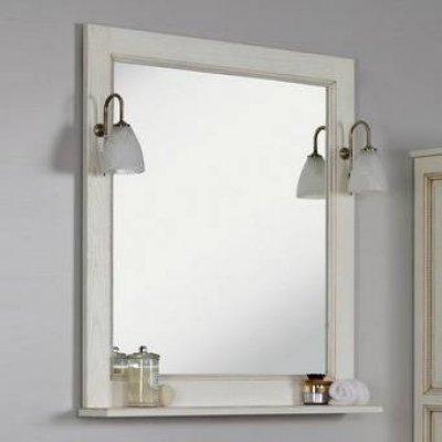 Зеркало для ванной Акватон Жерона 85 белое золото