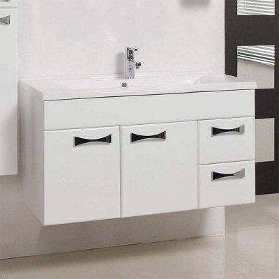Тумба с раковиной для ванной Акватон Диор 100 белая-2