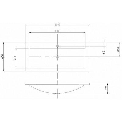 Тумба с раковиной для ванной Акватон Диор 100 белая-5