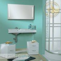 Комплект мебели для ванной Акватон Отель 100 левый