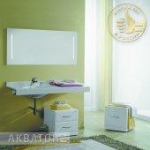 Комплект мебели для ванной Акватон Отель 120 левый