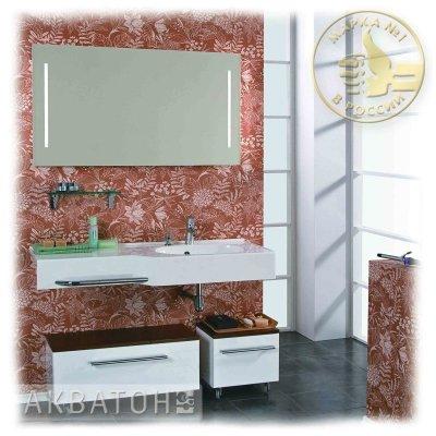 Комплект мебели для ванной Акватон Отель 127 правый