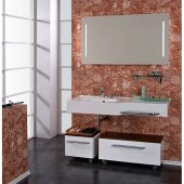Комплект мебели для ванной Акватон Отель 127 левый