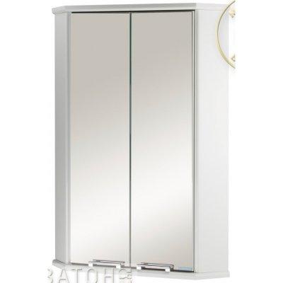 Шкаф для ванной угловой Акватон Призма 45 2М двустворчатый