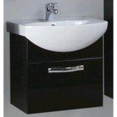 Тумба с раковиной для ванной Акватон Ария 50 черный глянец