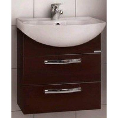 Тумба с раковиной для ванной Акватон Ария М 50 темно-коричневая