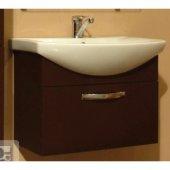 Тумба с раковиной для ванной Акватон Ария 65 темно-коричневая