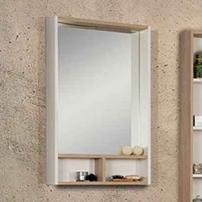 Зеркало для ванной Акватон Йорк 55 белый/дуб сонома