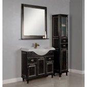 Комплект мебели для ванной Акватон Жерона 85 черное серебро