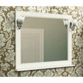 Зеркало для ванной Акватон Жерона 105 белое серебро