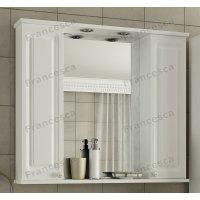 Зеркало Francesca Империя 90 2 шкафчика