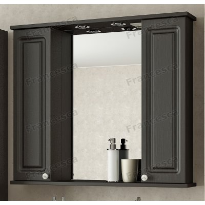 Зеркало Francesca Империя 90 2 шкафчика венге