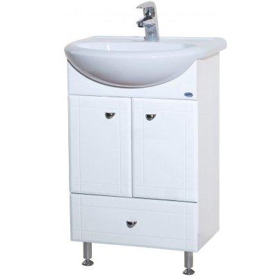Тумба с раковиной для ванной Bellezza Уют 55 с нижним ящиком