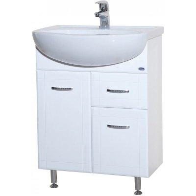 Тумба с раковиной для ванной Bellezza Уют 60 с 1 ящиком