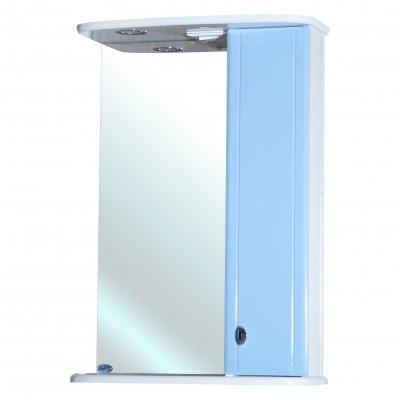 Зеркало-шкаф для ванной Bellezza Астра 50 голубое