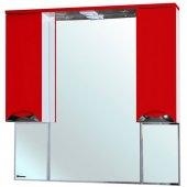 Зеркало-шкаф для ванной Bellezza Белла 105 люкс красный