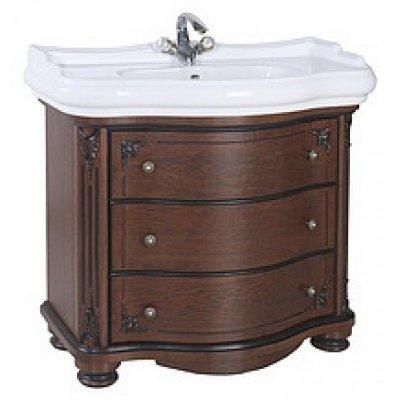Тумба с раковиной для ванной Bellezza Жардин 100 вишня