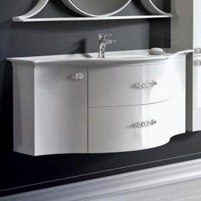 Тумба с раковиной для ванной Belux Версаль 150 белая