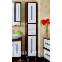 Шкаф-Пенал для ванной комнаты Бриклаер Бали 34 с бельевой корзиной