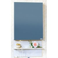 Зеркало-шкаф для ванной Бриклаер Карибы 50 светлая лиственница