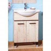 Тумба с раковиной для ванной Бриклаер Карибы 60 Дуб кантри/Венге