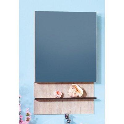 Зеркало-шкаф для ванной Бриклаер Карибы 60 Дуб кантри/Венге