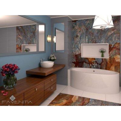 Угловая Акриловая ванна Favenitia Deborah L/R