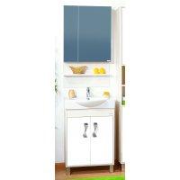 Комплект мебели Бриклаер Аргентина 65 светлая лиственница/ белый глянец