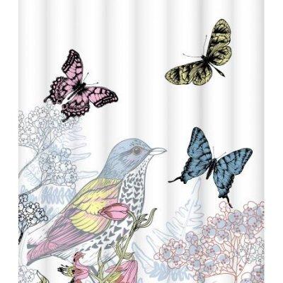 Штора для ванной комнаты LeMark Colorful butterflies C1820T004