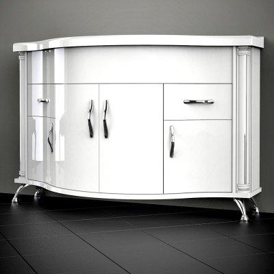 Тумба с раковиной для ванной Belux Ария 140 белая