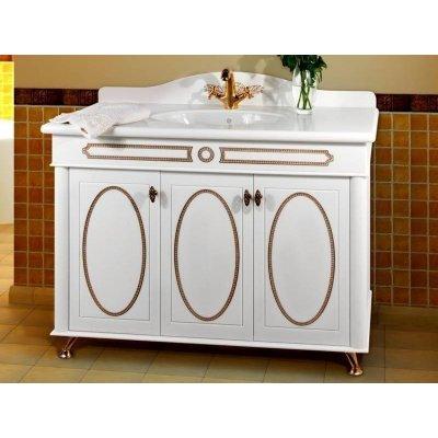 Тумба с раковиной для ванной Vod-ok Анжелика 120 Коричневый Блейз, Красная Паприка, Серый Шел