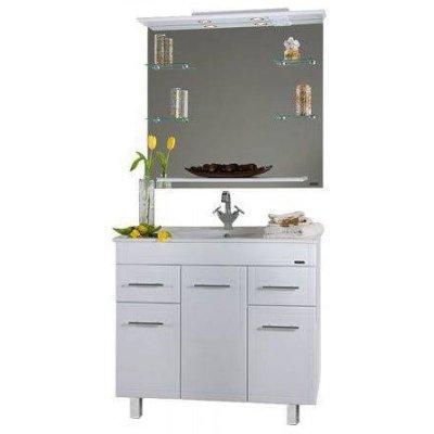 Комплект мебели для ванной Vod-ok Ницца D 90 с бельевой корзиной