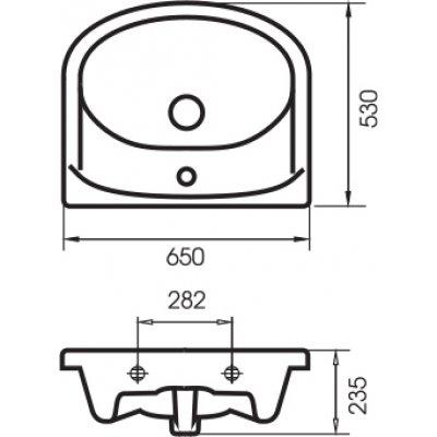 Комплект мебели для ванной  Style Line Кантри-65-3
