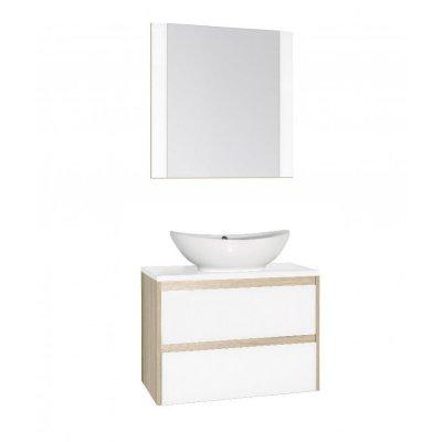 Комплект мебели Style Line Монако 80 Люкс Plus, белый лакобель