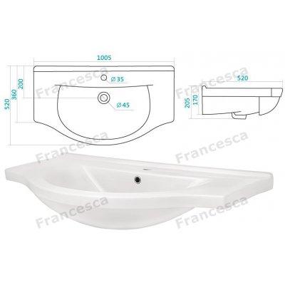 Комплект мебели Francesca Империя 100-2 венге-2