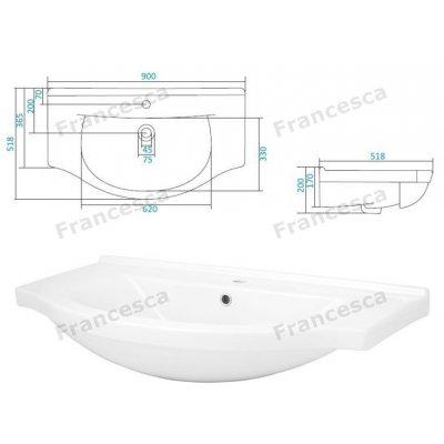 Комплект мебели Francesca Версаль 90-1