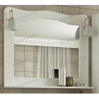 Зеркало Francesca Империя 100 белый полотно (со светильниками)