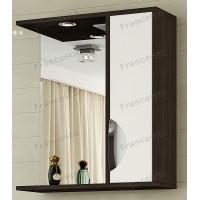 Шкаф-зеркало Francesca Версаль 50 С белый/венге
