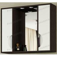 Шкаф-зеркало Francesca Версаль 90 С белый/венге 2 шкафа